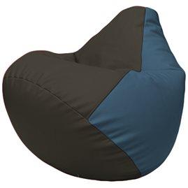Кресло-мешок Груша Г2.3-1603 чёрный, синий