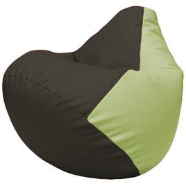 Кресло-мешок Груша Г2.3-1604 чёрный, светло-салатовый