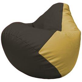 Кресло-мешок Груша Г2.3-1608 чёрный, охра