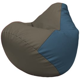 Кресло-мешок Груша Г2.3-1703 серый, синий