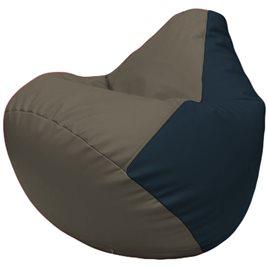Кресло-мешок Груша Г2.3-1715 серый, синий