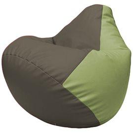 Кресло-мешок Груша Г2.3-1719 серый, оливковый