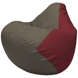 Кресло-мешок Груша Г2.3-1721 серый, бордовый