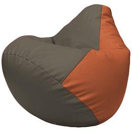 Кресло-мешок Груша Г2.3-1723 серый, оранжевый