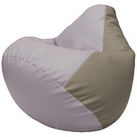 Кресло-мешок Груша Г2.3-2502 сиреневый, светло-серый