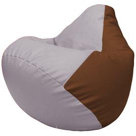 Кресло-мешок Груша Г2.3-2507 сиреневый, коричневый