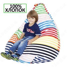 Бескаркасное кресло-мешок Груша Весёлые полоски