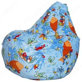 Бескаркасное кресло-мешок Груша Aqua 01