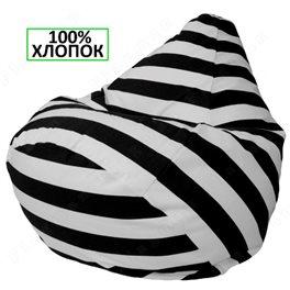 Кресло-мешок Груша Чёрный полосатик