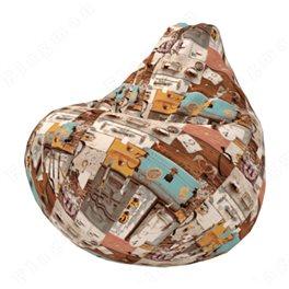 Бескаркасное кресло-мешок Груша Вояж