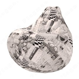 Бескаркасное кресло-мешок Груша Лавли