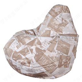Бескаркасное кресло-мешок Груша Терра 01