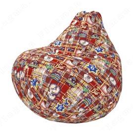 Бескаркасное кресло-мешок Груша Чек А04