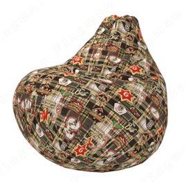 Бескаркасное кресло-мешок Груша Чек А05