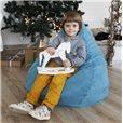 Кресло-мешок Груша голубое мини