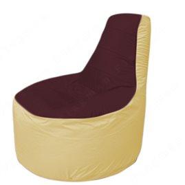 Живое кресло-мешокТрон Т1.1-0120(бордовый-бежевый)