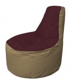 Живое кресло-мешокТрон Т1.1-0121(бордовый-тем.бежевый)