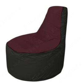 Живое кресло-мешокТрон Т1.1-0124(бордовый-черный)