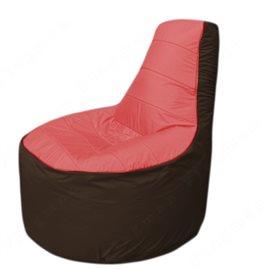 Живое кресло-мешокТрон Т1.1-0219(красный-коричневый)