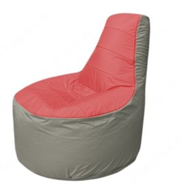 Живое кресло-мешокТрон Т1.1-0222(красный-серый)