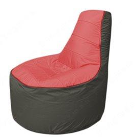 Живое кресло-мешокТрон Т1.1-0223(красный-тем.серый)