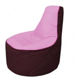Живое кресло-мешокТрон Т1.1-0301(розовый-бордовый)