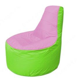 Живое кресло-мешокТрон Т1.1-0307(розовый-салатовый)