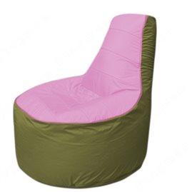 Живое кресло-мешокТрон Т1.1-0310(розовый-оливковый)