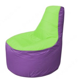 Живое кресло-мешокТрон Т1.1-0717(салатовый-сиреневый)
