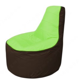 Живое кресло-мешокТрон Т1.1-0719(салатовый-коричневый)