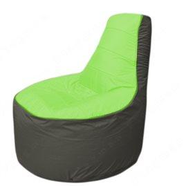 Живое кресло-мешокТрон Т1.1-0723(салатовый-тем.серый)