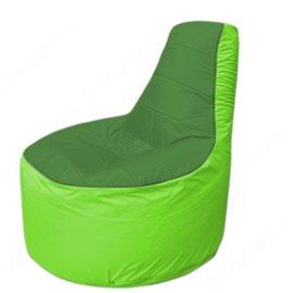 Живое кресло-мешокТрон Т1.1-0807(зеленый-салатовый)