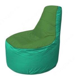 Живое кресло-мешокТрон Т1.1-0812(зеленый-бирюзовый)