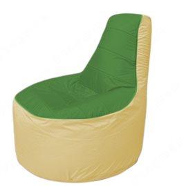 Живое кресло-мешокТрон Т1.1-0820(зеленый-бежевый)