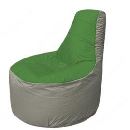 Живое кресло-мешокТрон Т1.1-0822(зеленый-серый)