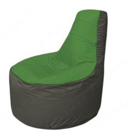 Живое кресло-мешокТрон Т1.1-0823(зеленый-тем.серый)