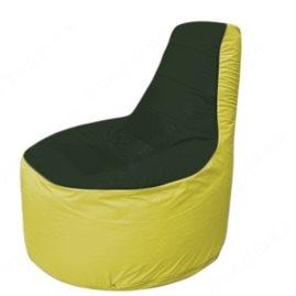 Живое кресло-мешокТрон Т1.1-0906(тем.зелёный-желтый)