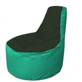 Живое кресло-мешокТрон Т1.1-0912(тем.зелёный-бирюзовый)
