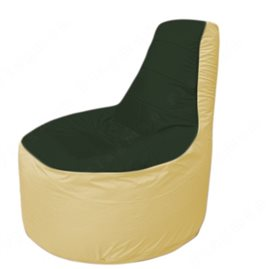 Живое кресло-мешокТрон Т1.1-0920(тем.зелёный-бежевый)