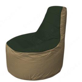 Живое кресло-мешокТрон Т1.1-0921(тем.зелёный-тем.бежевый)