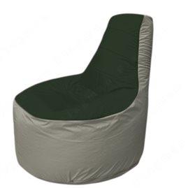 Живое кресло-мешокТрон Т1.1-0922(тем.зелёный-серый)