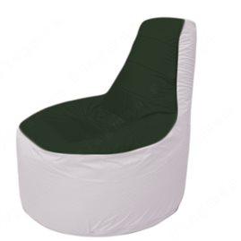 Живое кресло-мешокТрон Т1.1-0925(тем.зелёный-белый)