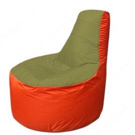 Живое кресло-мешокТрон Т1.1-1005(оливковый-оранжевый)