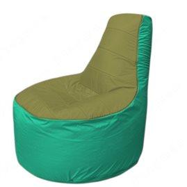 Живое кресло-мешокТрон Т1.1-1012(оливковый-бирюзовый)