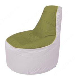 Живое кресло-мешокТрон Т1.1-1025(оливковый-белый)