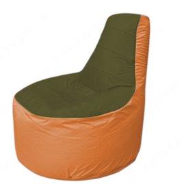 Живое кресло-мешокТрон Т1.1-1105(тем.оливковый-оранжевый)