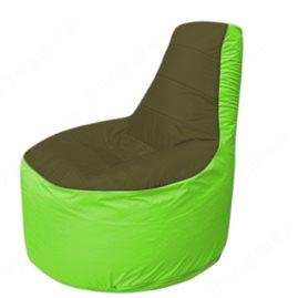 Живое кресло-мешокТрон Т1.1-1107(тем.оливковый-салатовый)