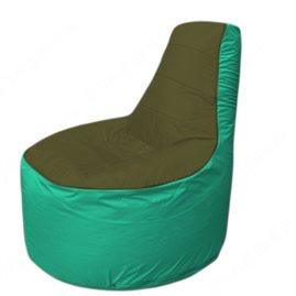 Живое кресло-мешокТрон Т1.1-1112(тем.оливковый-бирюзовый)