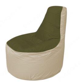 Живое кресло-мешокТрон Т1.1-1120(тем.оливковый-бежевый)