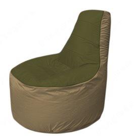 Живое кресло-мешокТрон Т1.1-1121(тем.оливковый-тем.бежевый)